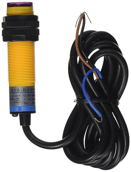 dc 3 wire 6 36v pnp ir photoelectric sensor switch 30cm e18 b03p1 rh amazon com