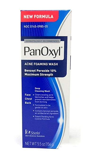 Pan Oxyl Acne Foaming Wash 10 Percents Benzoyl Peroxide 5.5 Oz (156 G) by Pan Oxyl