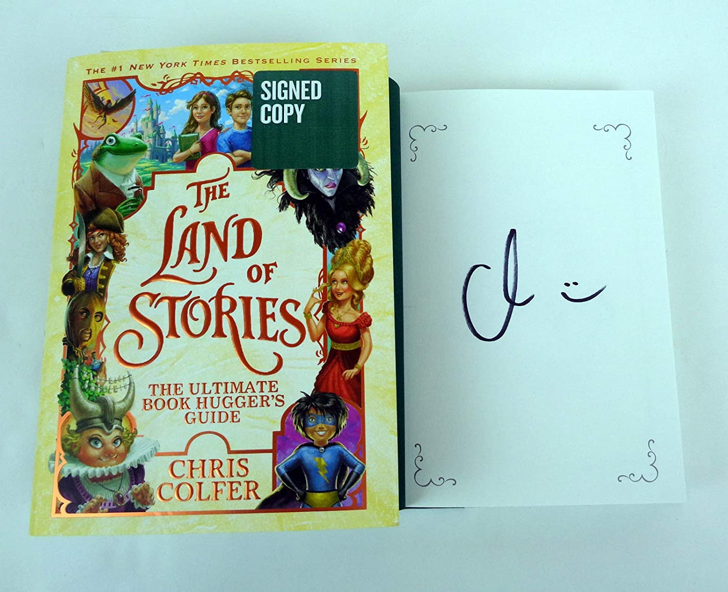 Chris Colfer Signed Autograph Land of Stories: The Ultimate Book Huggers Guide Book COA