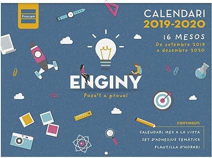 Calendario de pared 16 meses 2019-2020 catalán Ingenio Finocam ...