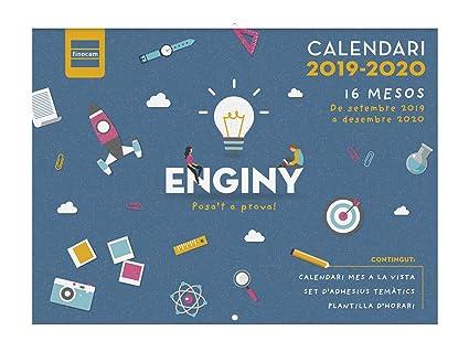 Calendario de pared 16 meses 2019-2020 catalán Ingenio Finocam