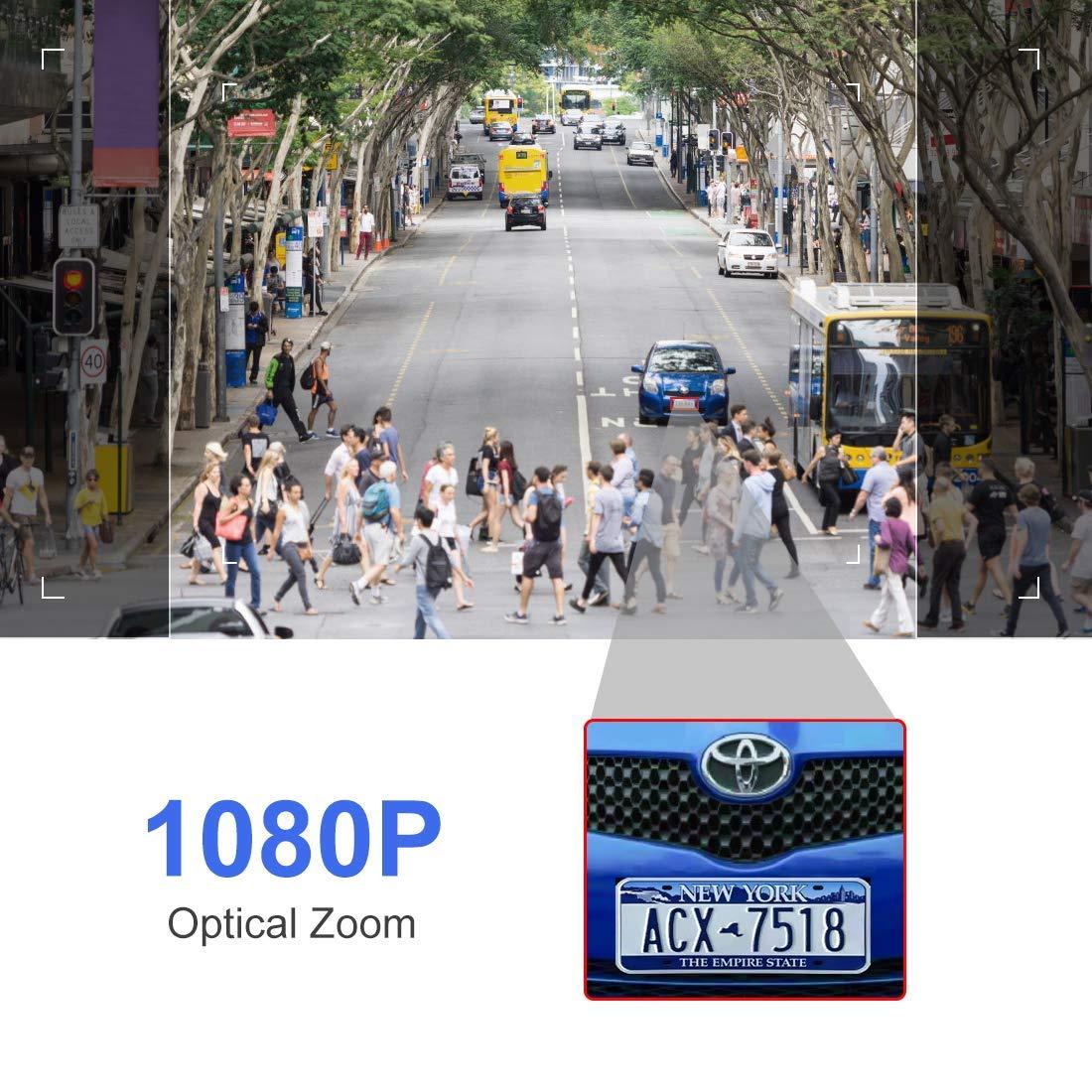 Camara IP WiFi 1080p C/ámara IP Exterior C/ámara PTZ Vigilancia Exterior WiFi Motorizada P//T Visi/ón Nocturna 20M Detecci/ón de Movimiento Monitorizaci/ón Remota v/ía PC//Smartphone//Tableta