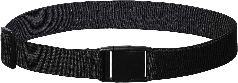 Adjustable Stretch Belt No Show Web Belt for Girls Black *2#2 WELROG Women Invisible Elastic Belt