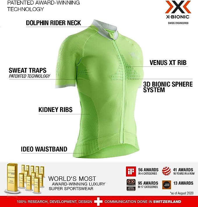 X-Bionic Invent Bike Race Zip Shirt Short Sleeve Women