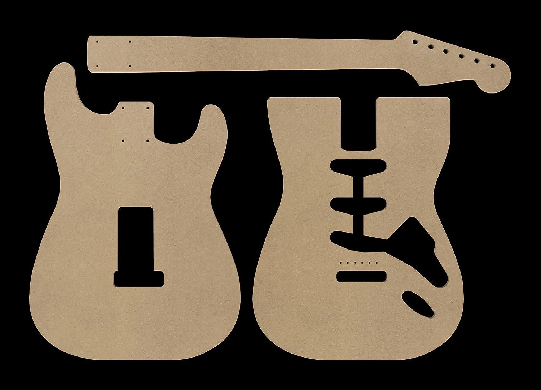 MDF cuerpo de guitarra stratocaster y cuello de corte CNC: Amazon ...