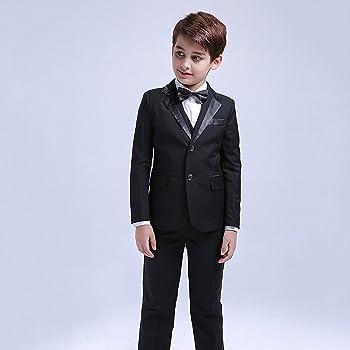 5 piezas niños Blazer formal niños Smoking chaleco chaleco traje ...