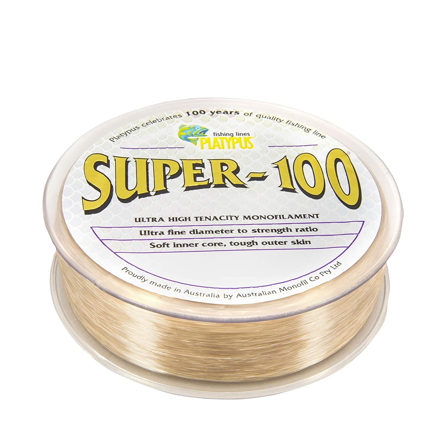 Platypus Super-100 – World s Strongest Fishing Line Since 1898 Natural Brown