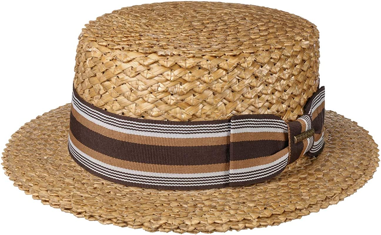 1950s Mens Hats | 50s Vintage Men's Hats Stetson Vintage Wheat Boater Straw Hat Women/Men - $96.10 AT vintagedancer.com