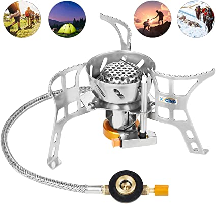 Portable Outdoor Stove Compact Camping Hiking Fishing Gas Heater Cooker Stoves