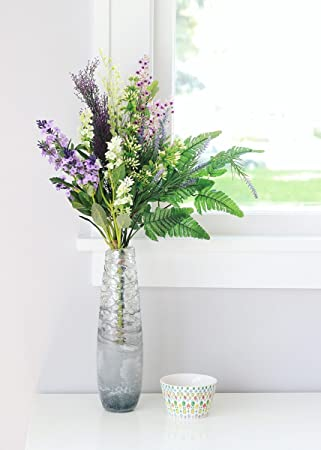 Amazon lavender forget me not silk flower bundle in purple lavender forget me not silk flower bundle in purple and white 24quot mightylinksfo