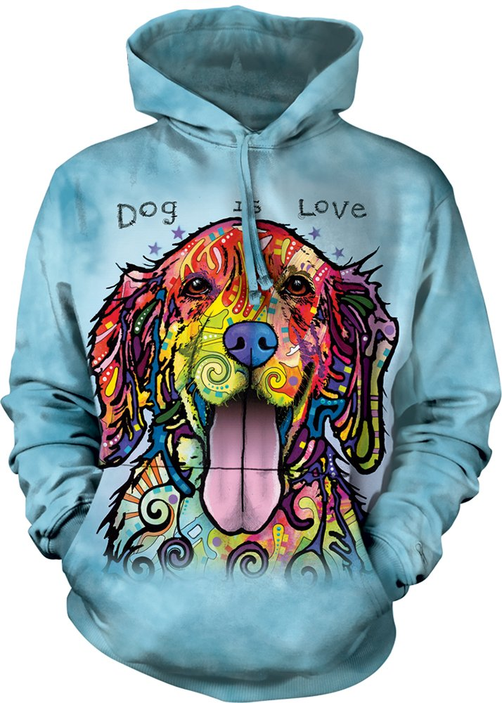 The Mountain Dog Is Love Adult Hoodie, Blue, XL