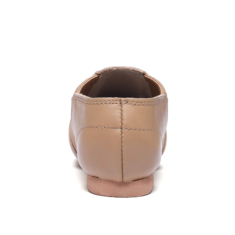 STELLE Leather Dance Jazz Slip-On Shoes for Toddler//Girl//Boy//Women//Men
