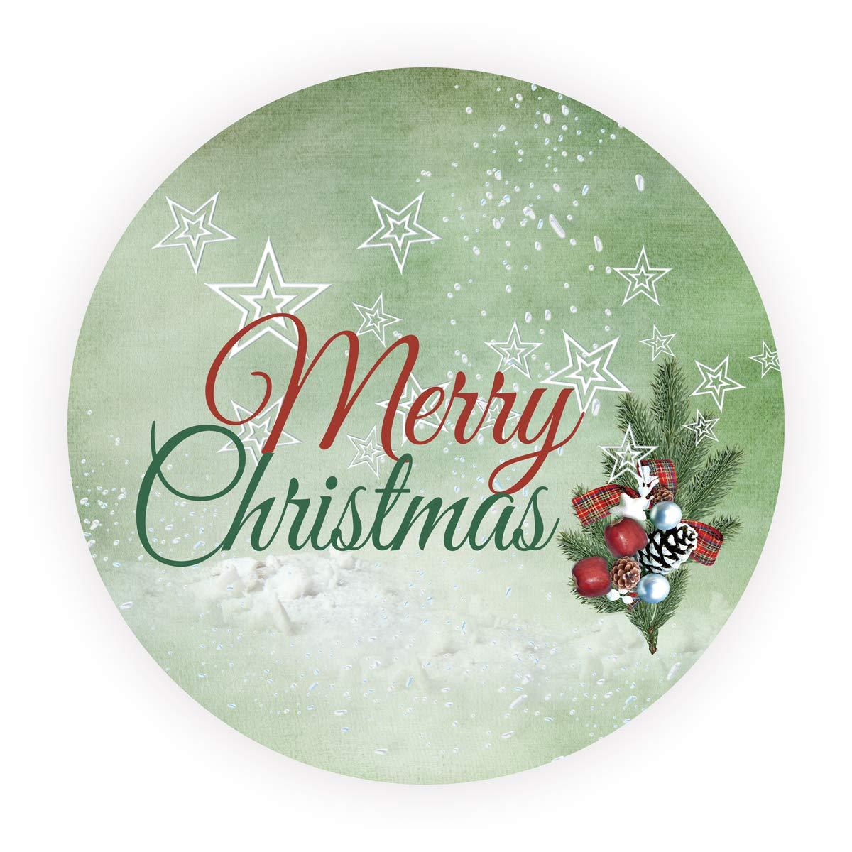 LYLY 48 Pezzi Adesivi Buon Natale Rosso e Verde Stella - Rotonde 4 cm Etichette Merry Christmas Bomboniere Regalo Natale Confezione Scatole Goodie Bag Guarnizioni Buste > CHRISTMAS LYLY Studio