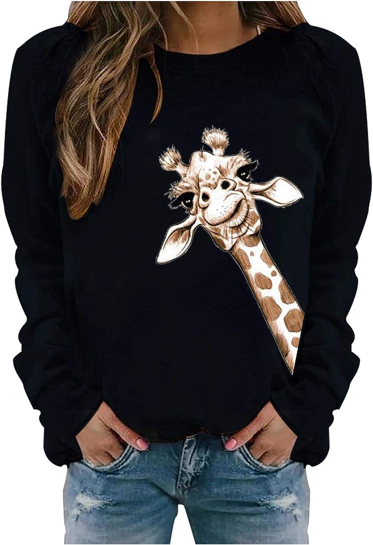 NECHOLOGY Womens 2020 Christmas Printed Long Sleeve Sweatshirts Lightweight Casual Pullover Tops Sweatshirts O-Neck Blouse