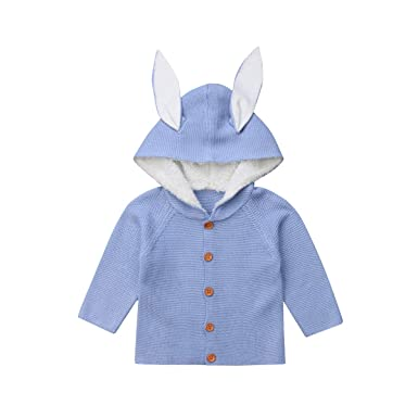 d48185d7c Amazon.com  One opening Baby Boy Girl Cardigan Sweater Cute Ear ...