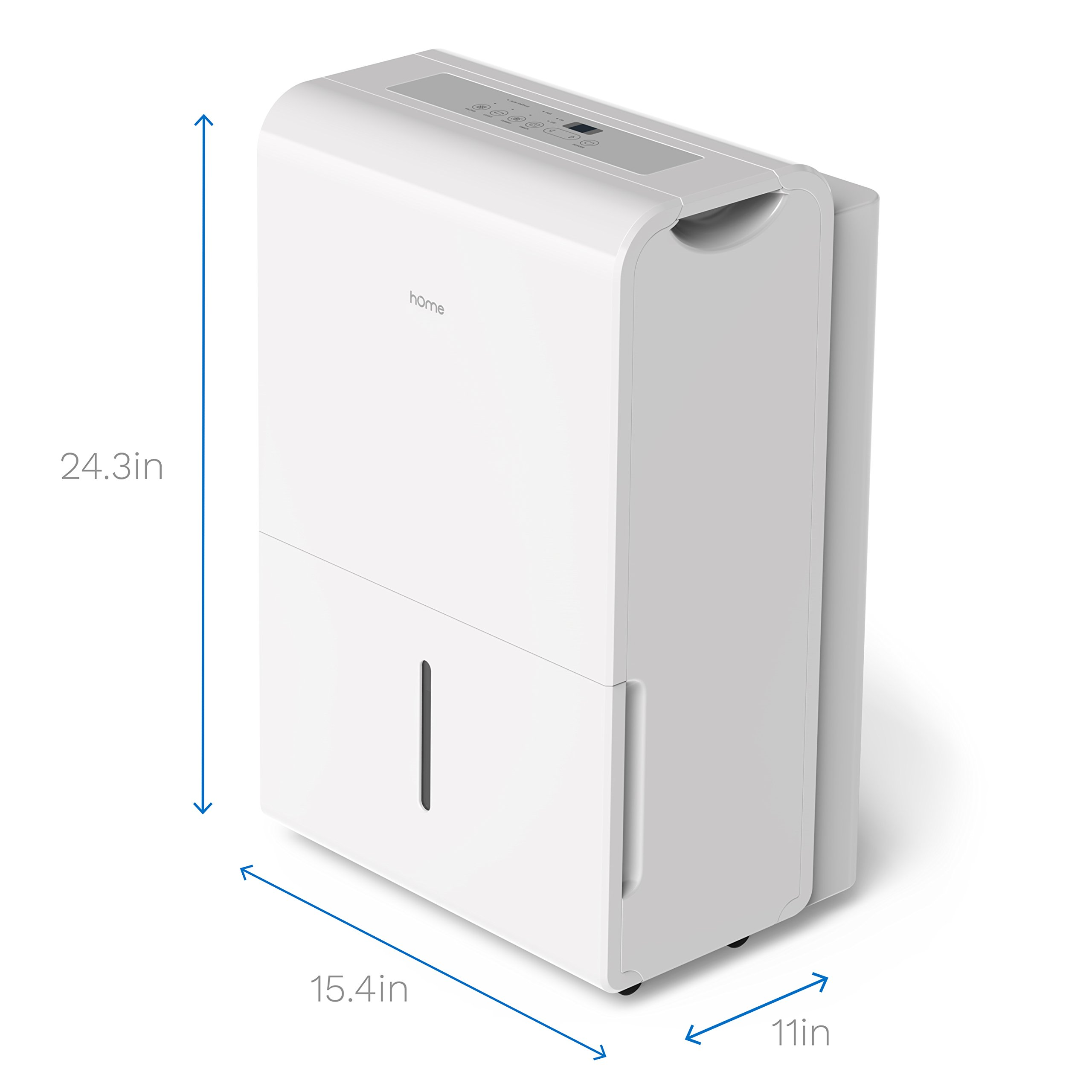 hOmeLabs 9 Gallon (70 Pint) Dehumidifier Energy Star Safe Mid Size Portable Dehumidifiers for Basements Large Rooms up to 4000 Sq Ft with Fan Wheels and Drain Hose Outlet to Remove Odor and Allergens by hOmeLabs (Image #5)
