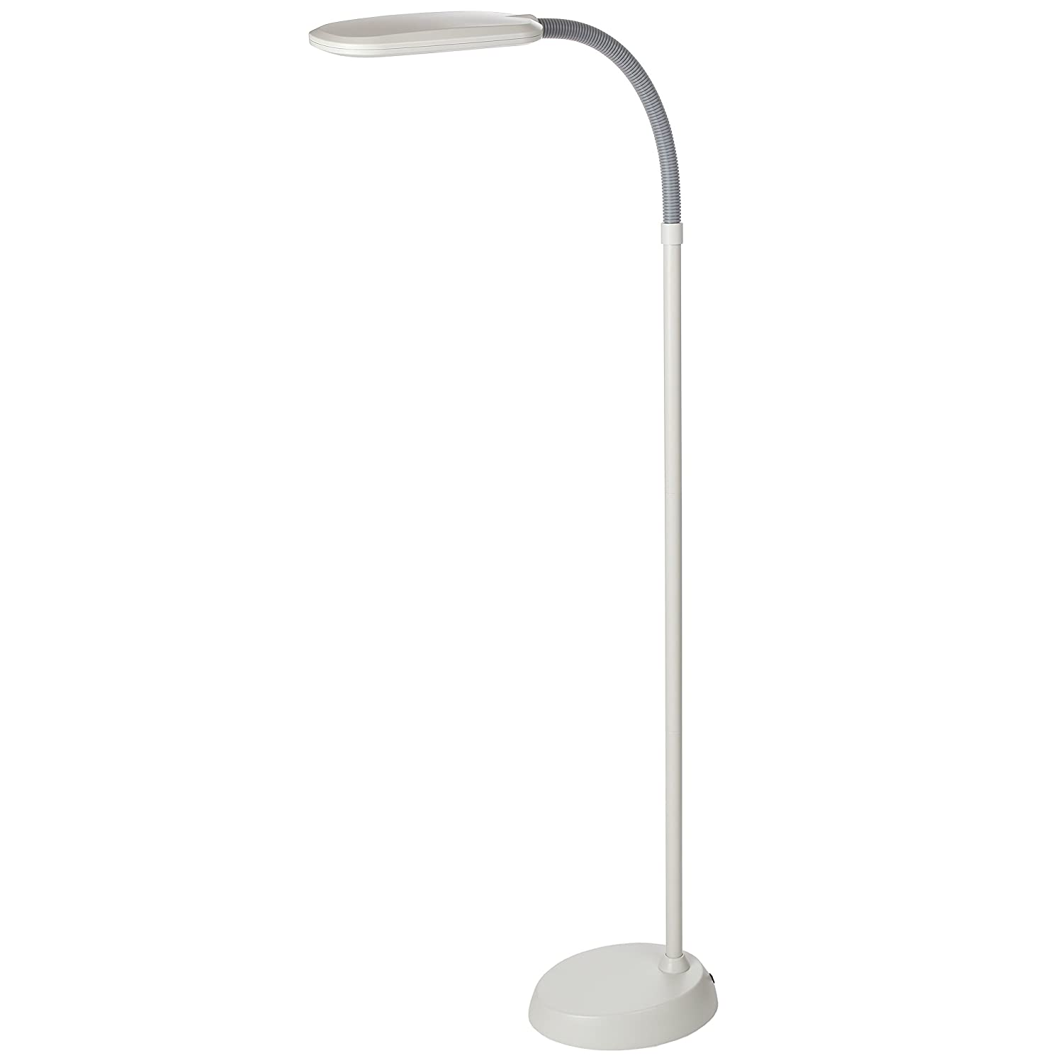 Amazon white floor lamp nursery - Brightech Litespan Led 2nd Edition Reading Floor Lamp With Cool Soft Warm White Led S Built In Dimmer Adjustable Design Pivots In Any Direction