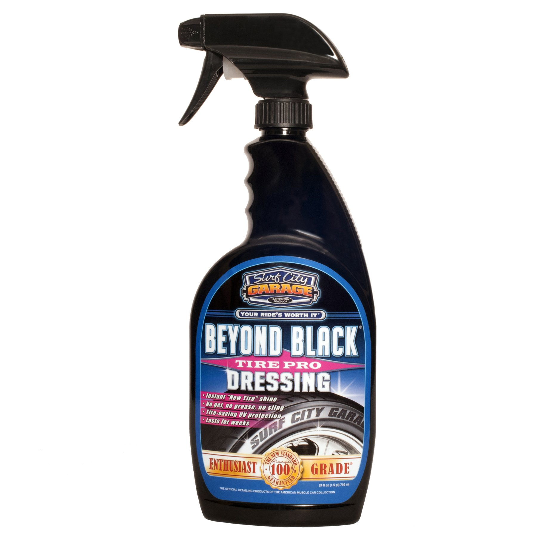 Surf City Garage 24 oz 104 Beyond Black Tire Dressing 24oz - Water -Based, Natural Low Shine Clean Finish, Non Greasy - Won't Attract Dust, Extreme Protection from UV Rays
