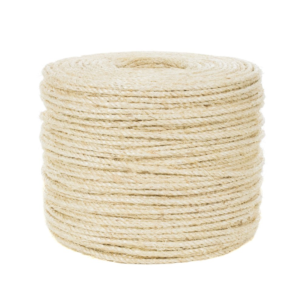 1/4-inch Premium Sisal Rope - 100 Feet - Pet Friendly by West Coast Paracord