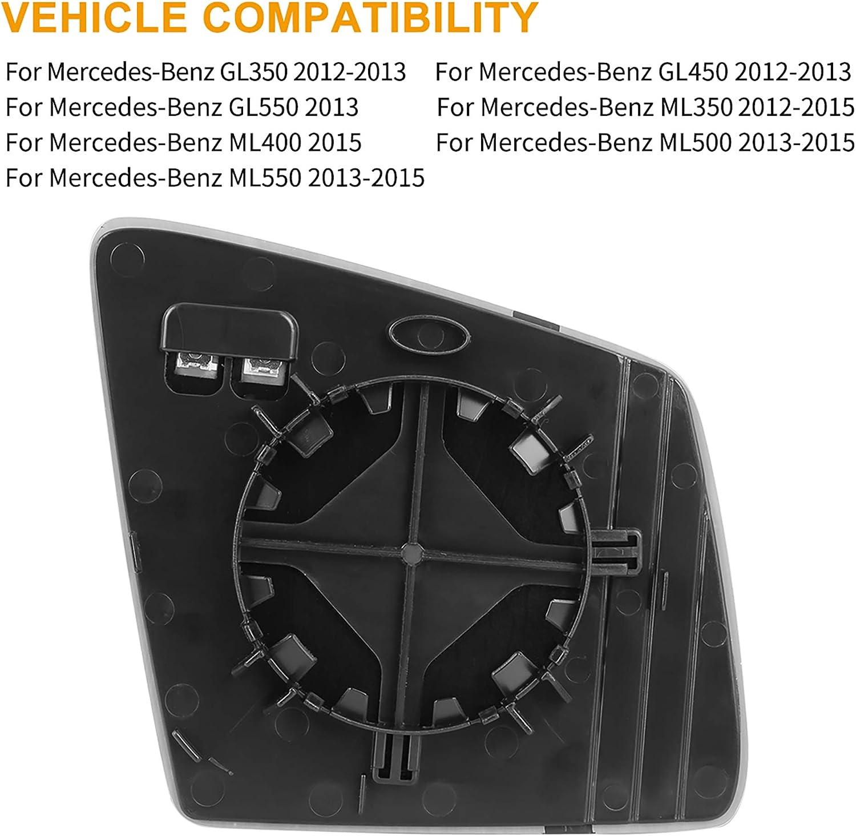 X Autohaux Rückspiegelglas Mit Trägerplatte Fahrerseite Linke Seite Für Auto Auto