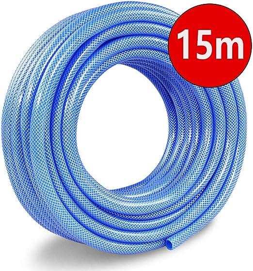 XXIOJUN-Manguera de jardín Mangueras Suave Tres Capas A Prueba De Explosiones Caucho PVC Patio, 6 Tamaño (Color : Blue, Size : 15m): Amazon.es: Hogar