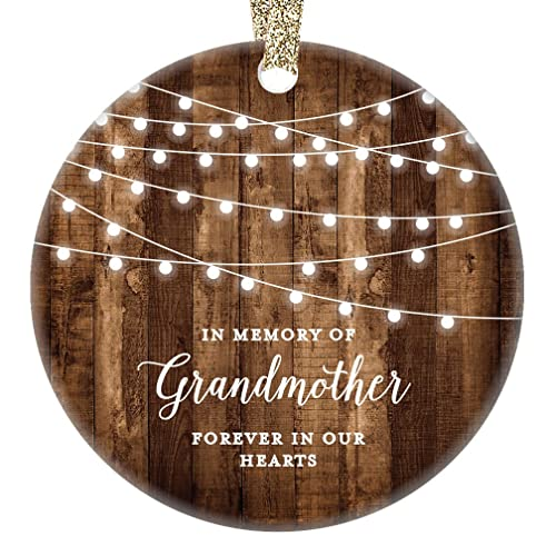 grandmother sympathy gifts 2017 in memory of grandmother christmas ornament grandma xmas dated farmhouse collectible
