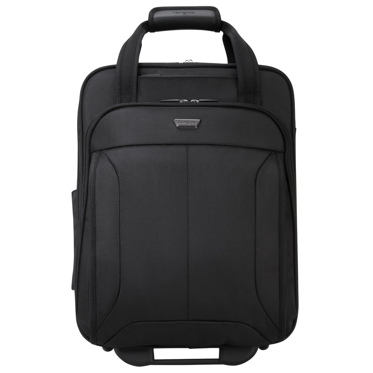 Targus Corporate Traveler Vertical Rolling Case with SafePoirt Air Cushion System for 15.6-Inch Laptops, Black (CUCT03R)