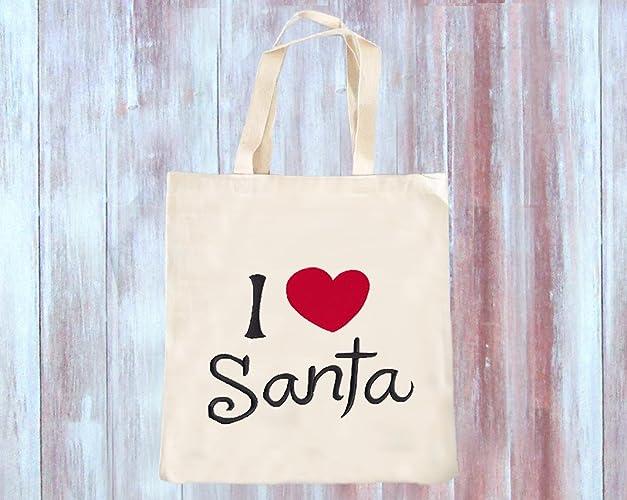 i love santa tote bag christmas tote bags canvas tote bag christmas grocery