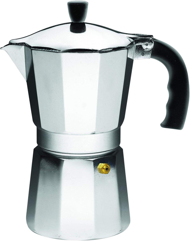 6 Cups Stovetop Coffee Maker Aluminum Italian Espresso Percolator Moka Pot