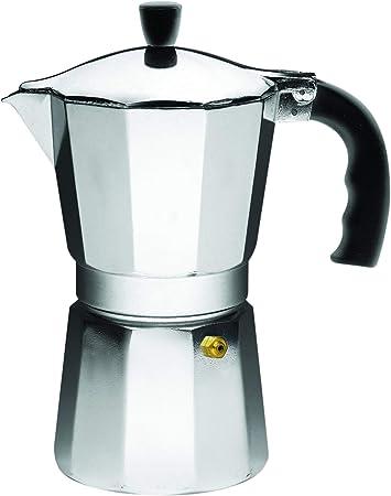 IMUSA Cafetera de espresso para estufa, Plateado, 6 Tazas, 1