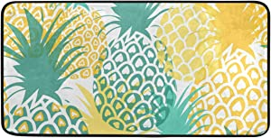 ALAZA Pineapple Standing Mat Kitchen Rug Mat, Comfort Flooring, Commercial Grade Pads, Absorbent, Ergonomic Floor Pad, Rugs for Office Stand Up Desk, 39x20in
