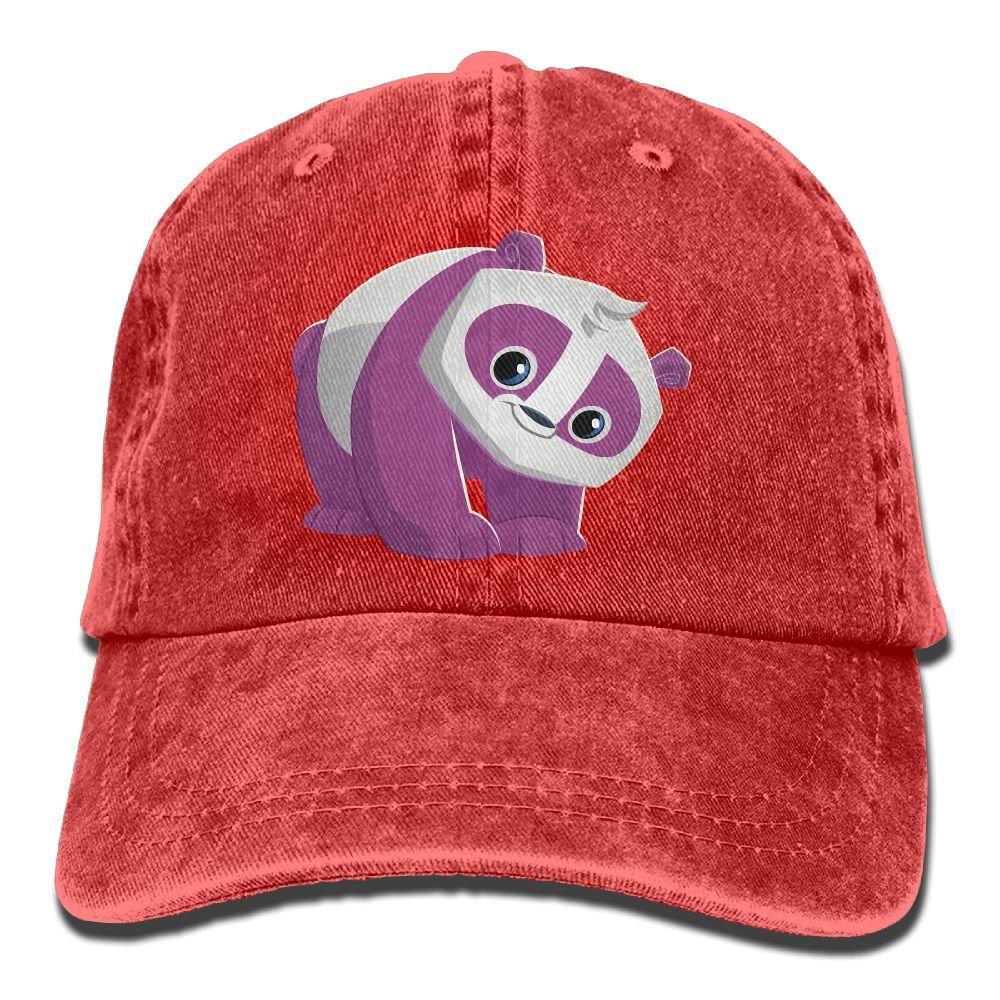 Homlife Denim Baseball Cap Purple Panda Lover Summer Hat Adjustable Cotton Sport Caps
