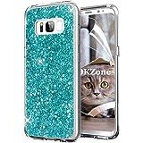 OKZone Cover Samsung Galaxy S8 Custodia Lucciante con Brillantini Glitters Ultra Sottile Designer Case Cover per Samsung Galaxy S8 (Verde)