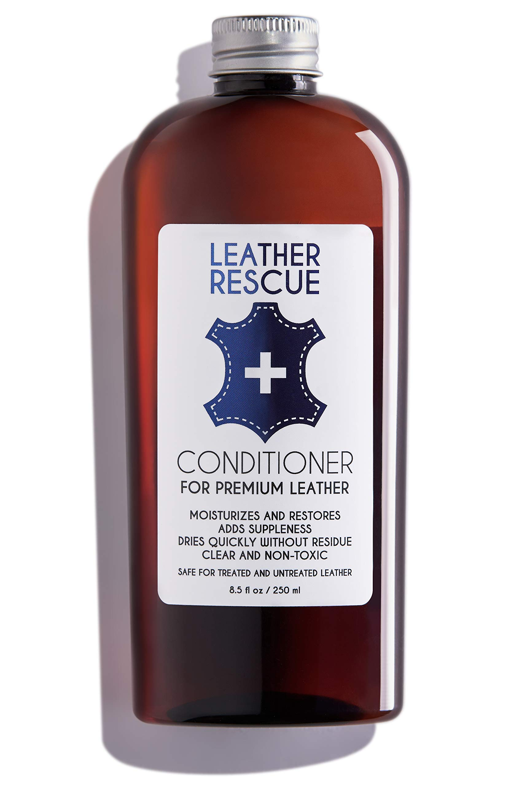 Leather Rescue Conditioner and Restorer | for Car Seats and Interiors, Jackets, Shoes, Bags, Purses, and Furniture | 8.5 oz by Leather Rescue