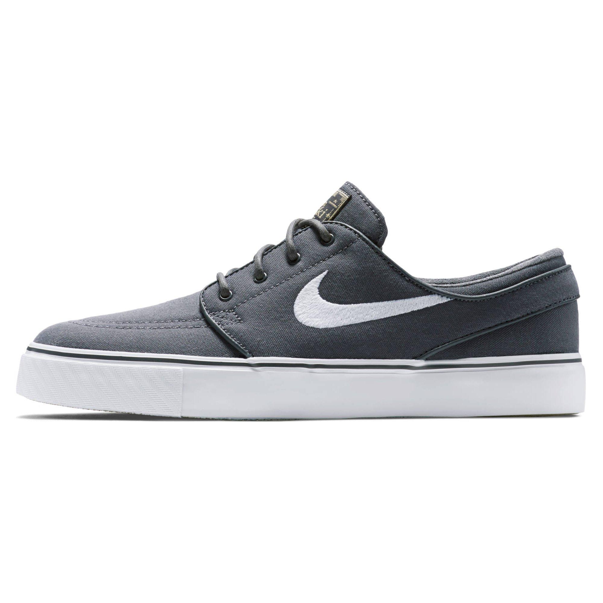 new arrival 7a5d3 b47c0 Galleon - Nike Mens Zoom Stefan Janoski L Skate Shoe (6 D(M) US, Drk Gry  White Gm Lght Brwn Mtl)
