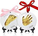 Baby Handprint Footprint Ornament Keepsake Kit - Personalized Baby Prints Ornaments