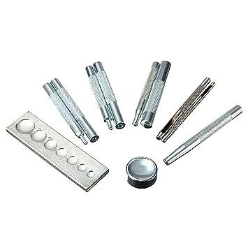 5e9dfa3ece7b Outil complet pour pose de boutons-pression et rivets sur cuir et 2 emporte-