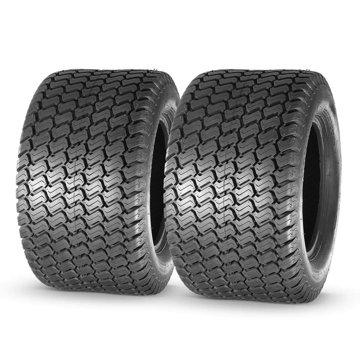 MaxAuto 24x12.00-12 Turf Lawn Mower Golf Cart Tractor Tires 4Ply P332 Tubeless, Set of 2