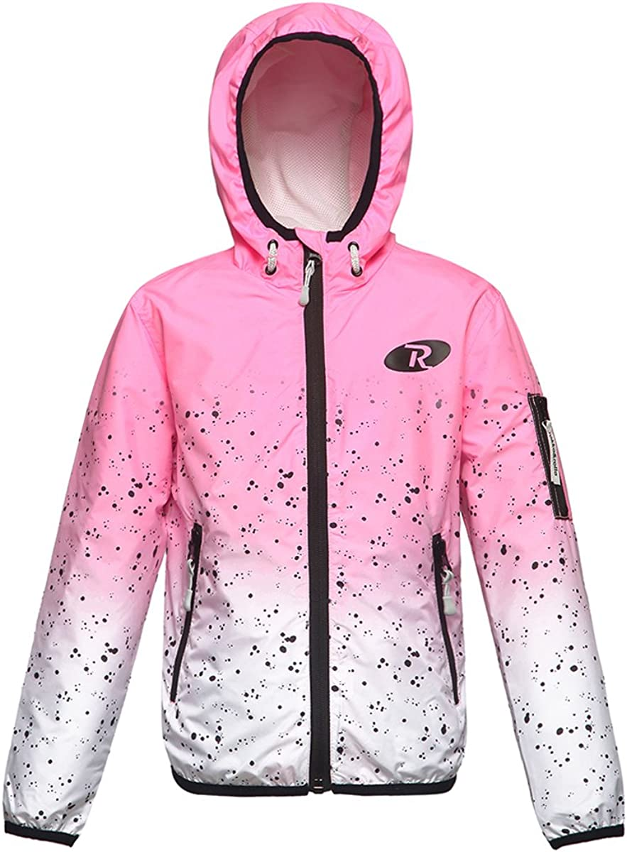 Girls Windbreaker Jacket with Hooded Coats Baby Flamingo Outdoor Jackets Outerwear Clothes Zip Clothing Watermelon