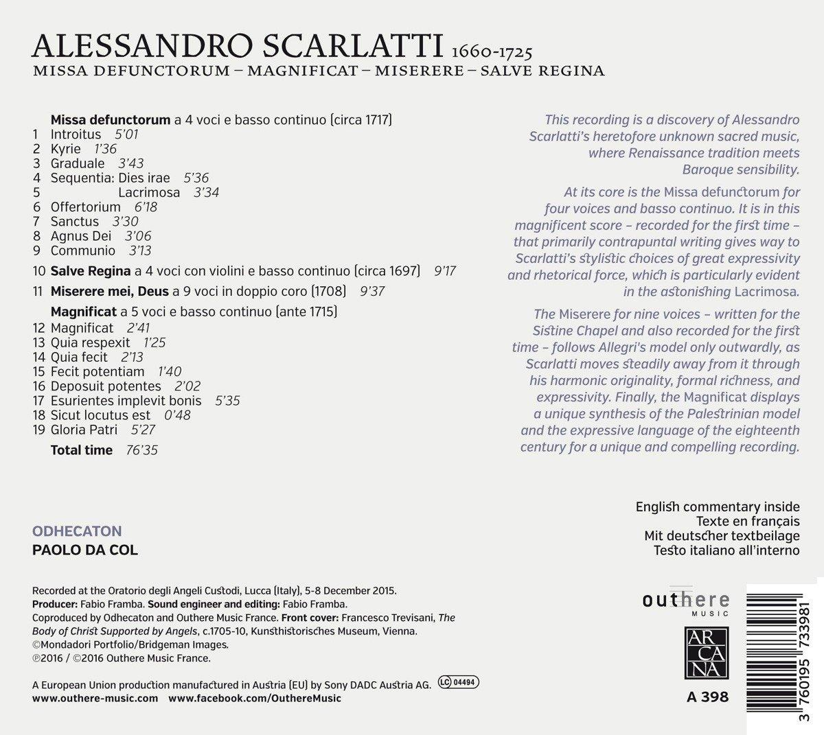 Alessandro Scarlatti (1660-1725) 71XWc2RQNVL._SL1200_