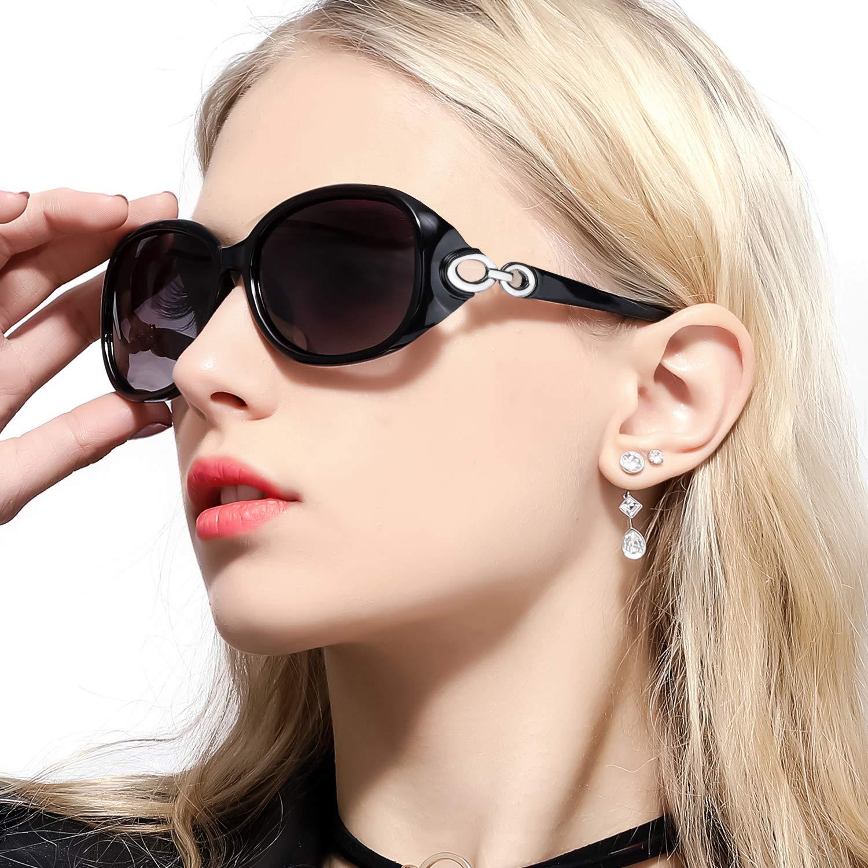 FIMILU Gafas de Sol de Gran Tamaño para Mujer, Lentes Polarizadas HD & Gafas de Protección UV400