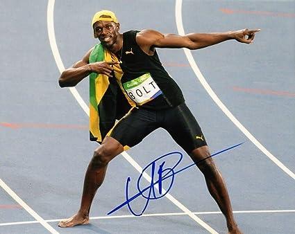 c637ff9cc26e8 Amazon.com: Usain Bolt Autographed 14