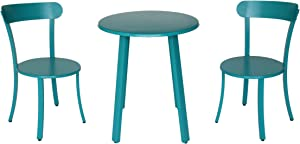 Christopher Knight Home 304958 Kelly Outdoor Bistro Set, Matte Teal