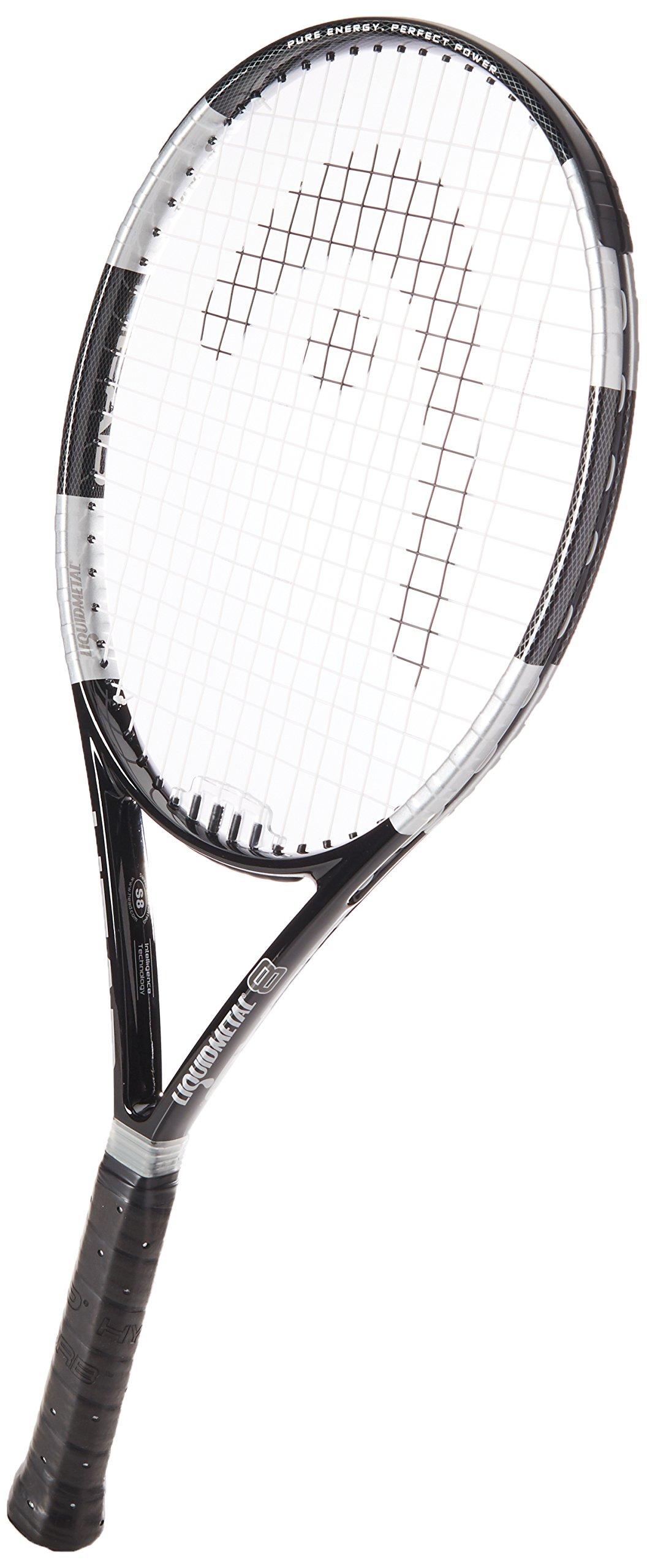 HEAD 2017 Liquidmetal 8 Tennis Racquet, Strung, 4 3/8 Inch Grip