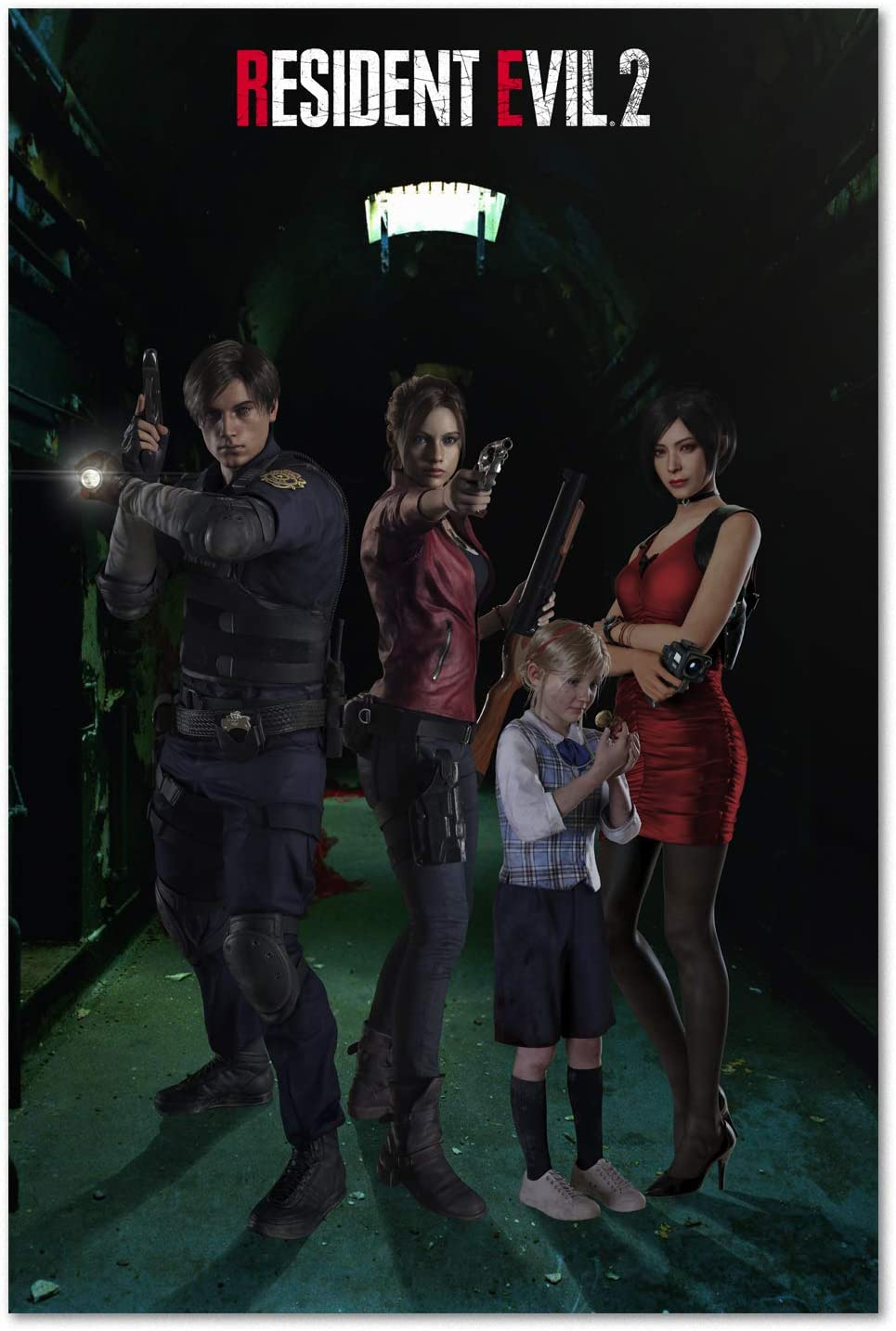 Amazon Com Resident Evil 2 Remake Poster Exclusive Character Design Prints 11x17 Posters Prints