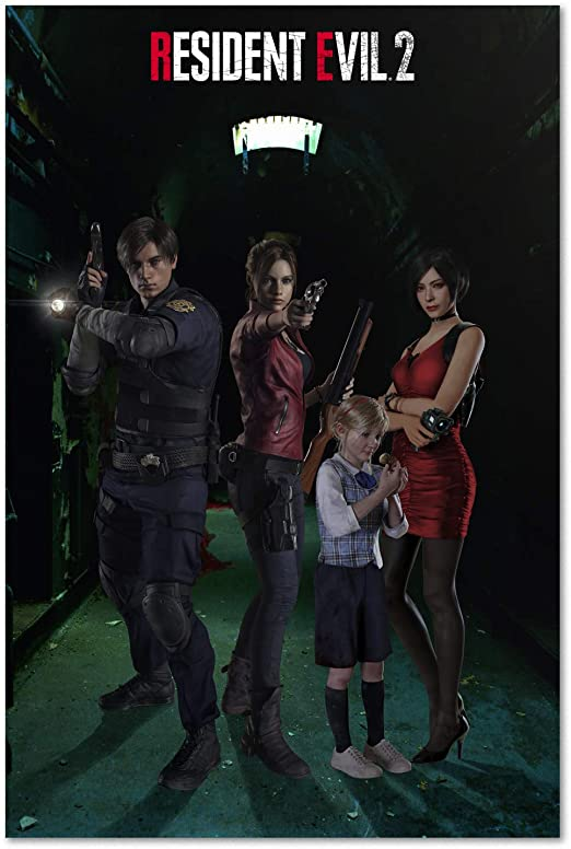 Amazon Com Resident Evil 2 Remake Poster Exclusive Character