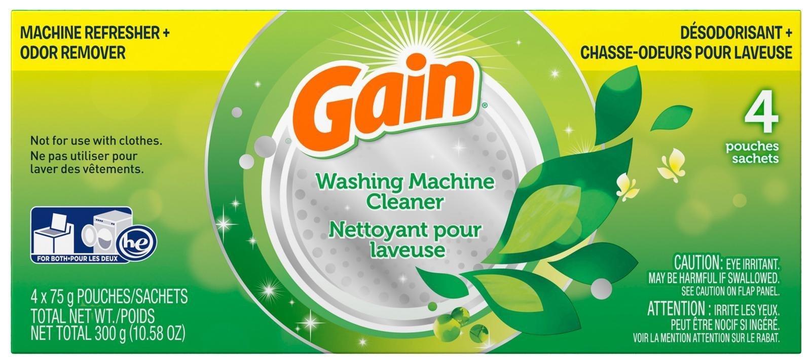 Gain Washing Machine Cleaner 1 box 4 Count