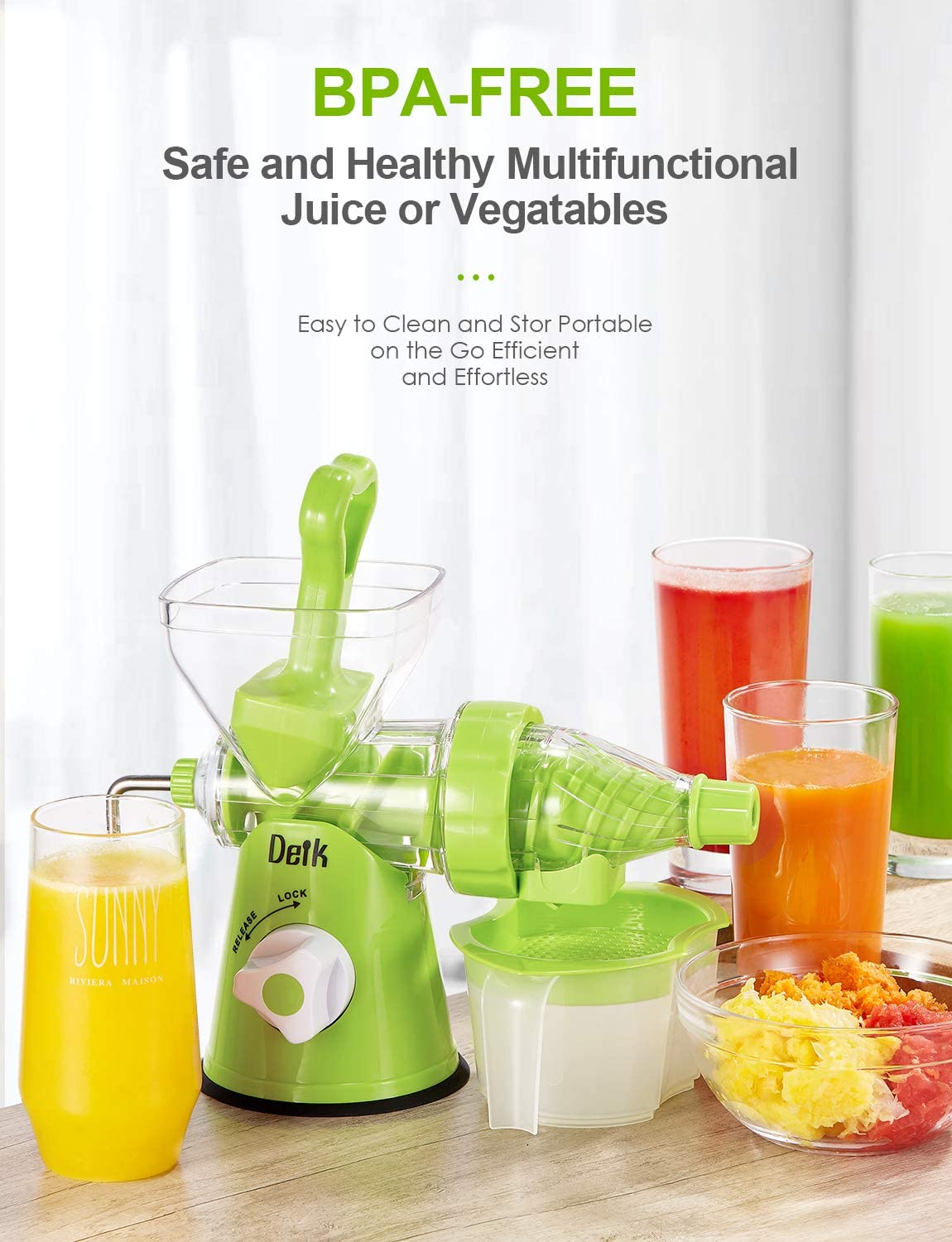 ghdonat.com Home & Kitchen Manual Juicers Easy to Clean Original ...