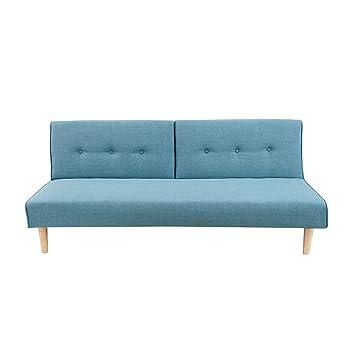 Modernes Schlafsofa BALTIC 180 cm Strukturstoff Couch aquamarin blau ...