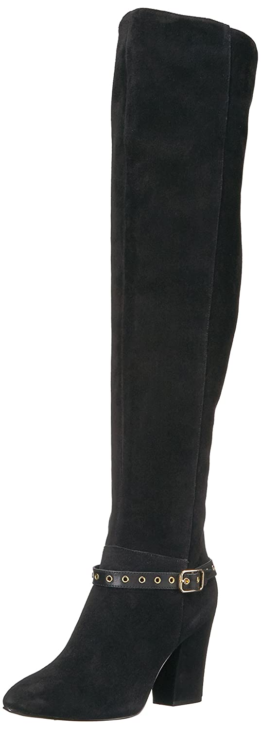 Nine West Women's Sandor Knee High Boot B01N5XVN6M 8 B(M) US|Black Suede